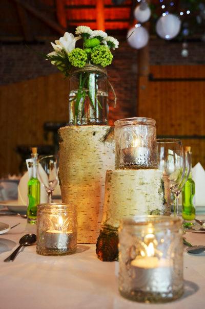 natürliche Tischdekoration