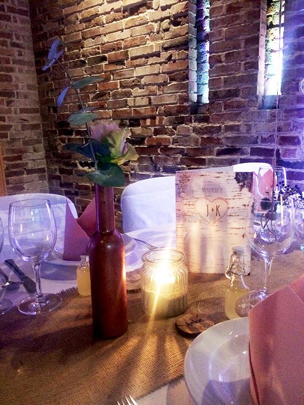 Tischdeko rosegold natur