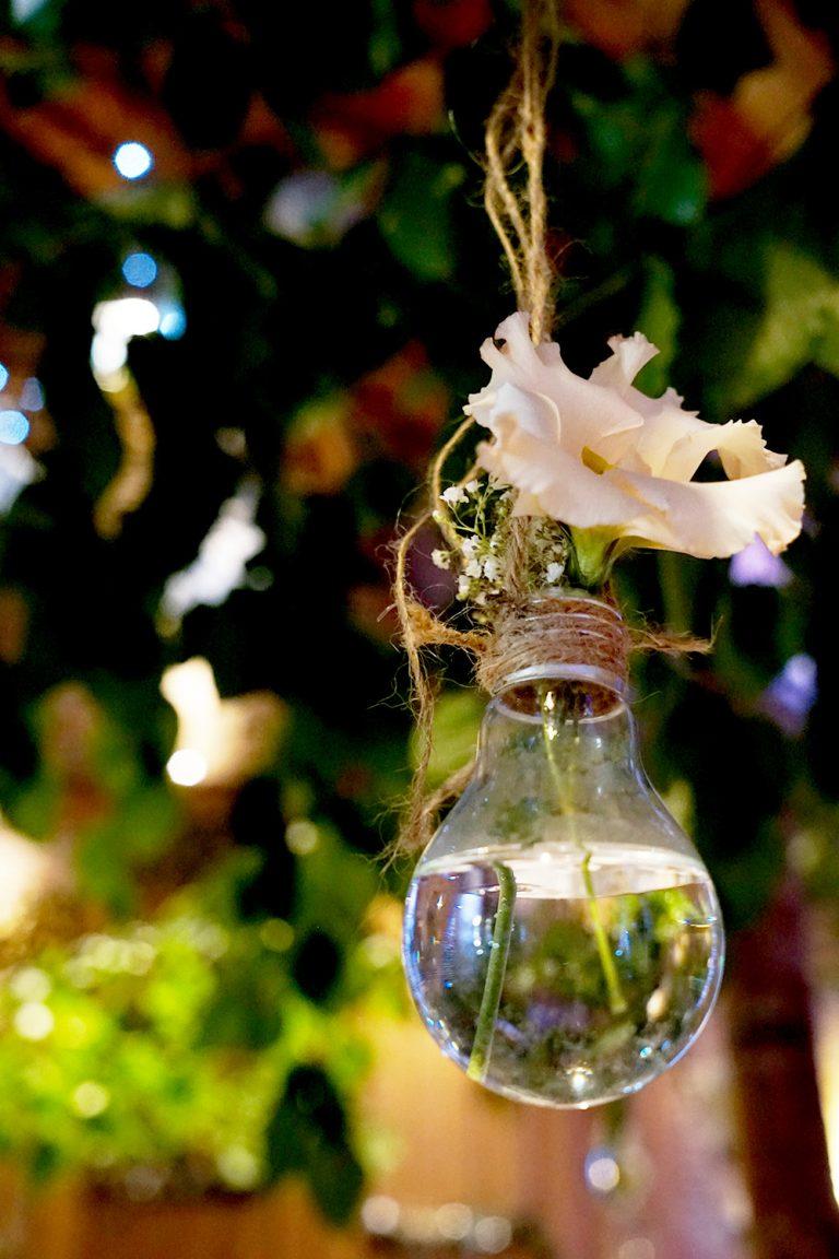 hängende Glühbirne Hochzeitsdekoration