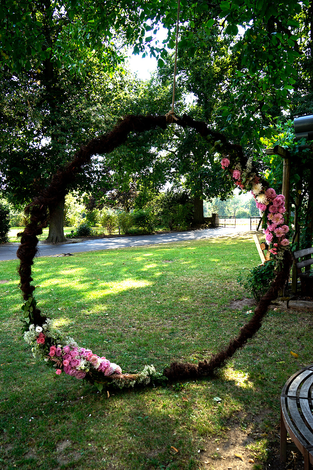 Wedding-Stargate, Flowercircle, Wedding Circle, Fotobox Hintergrund, Traubogen mal anders, Traubogen Blumen